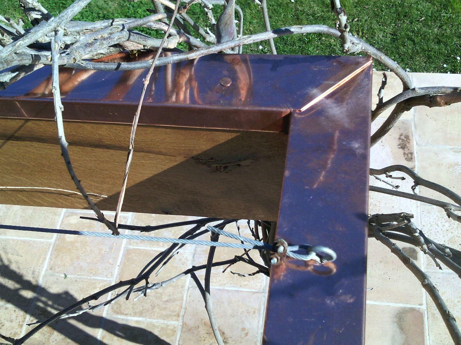 Perfil de cobre para proteger la madera en  Malaga