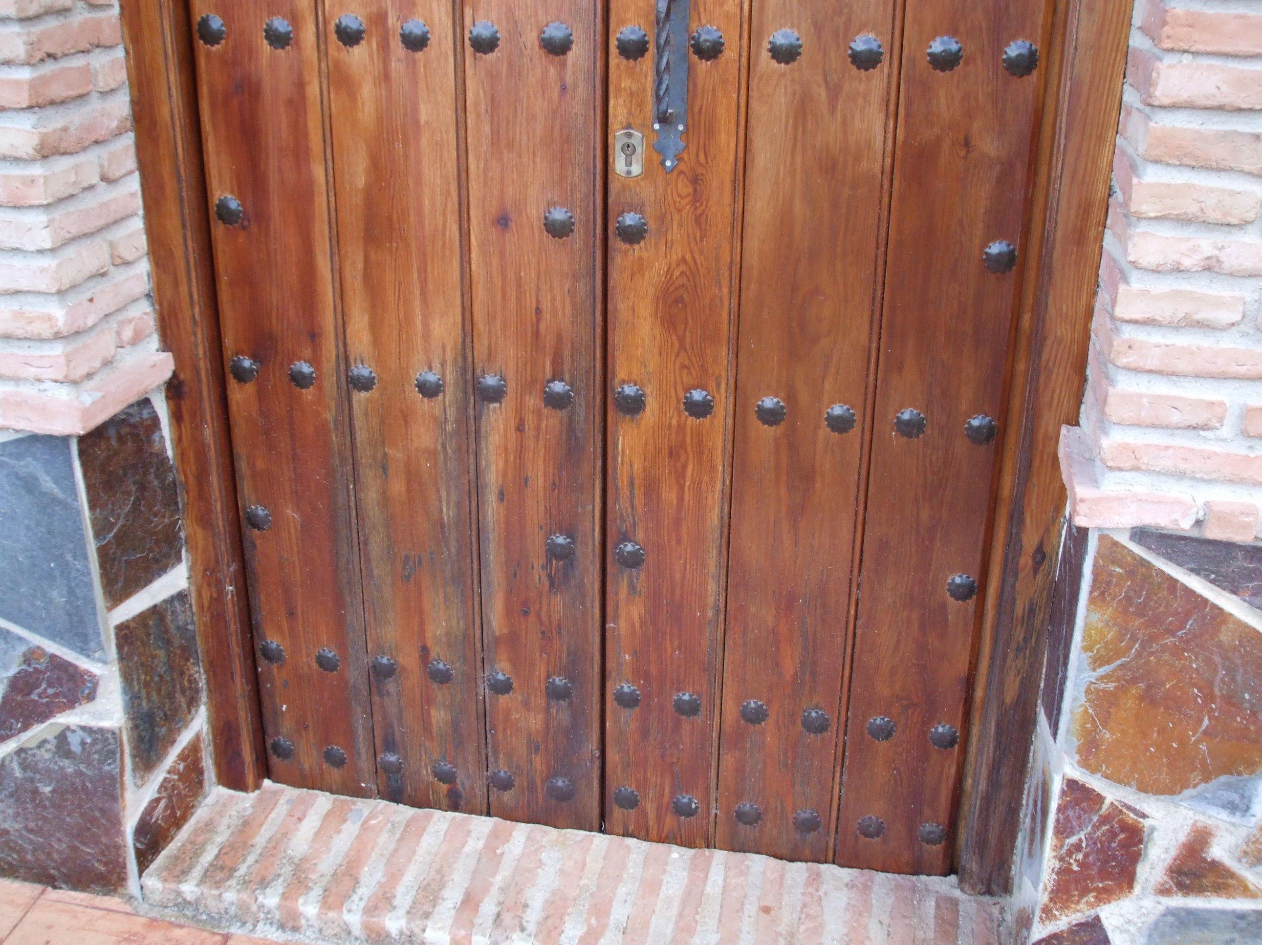Puerta antes de forrar