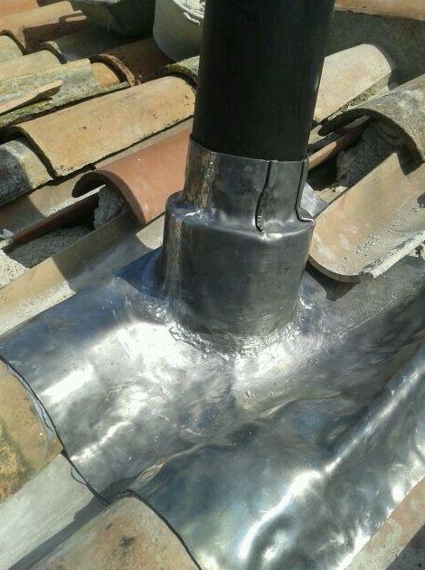 Calza de plomo para chimeneas