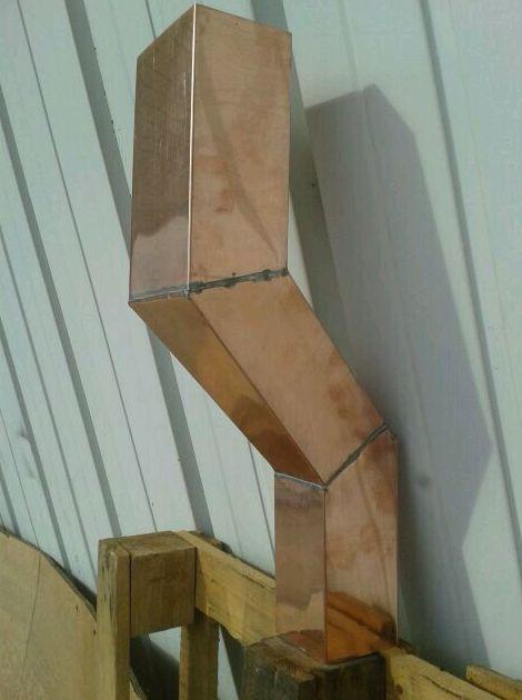 Doble codo, reducción en cobre. Todo en una pieza en Girona