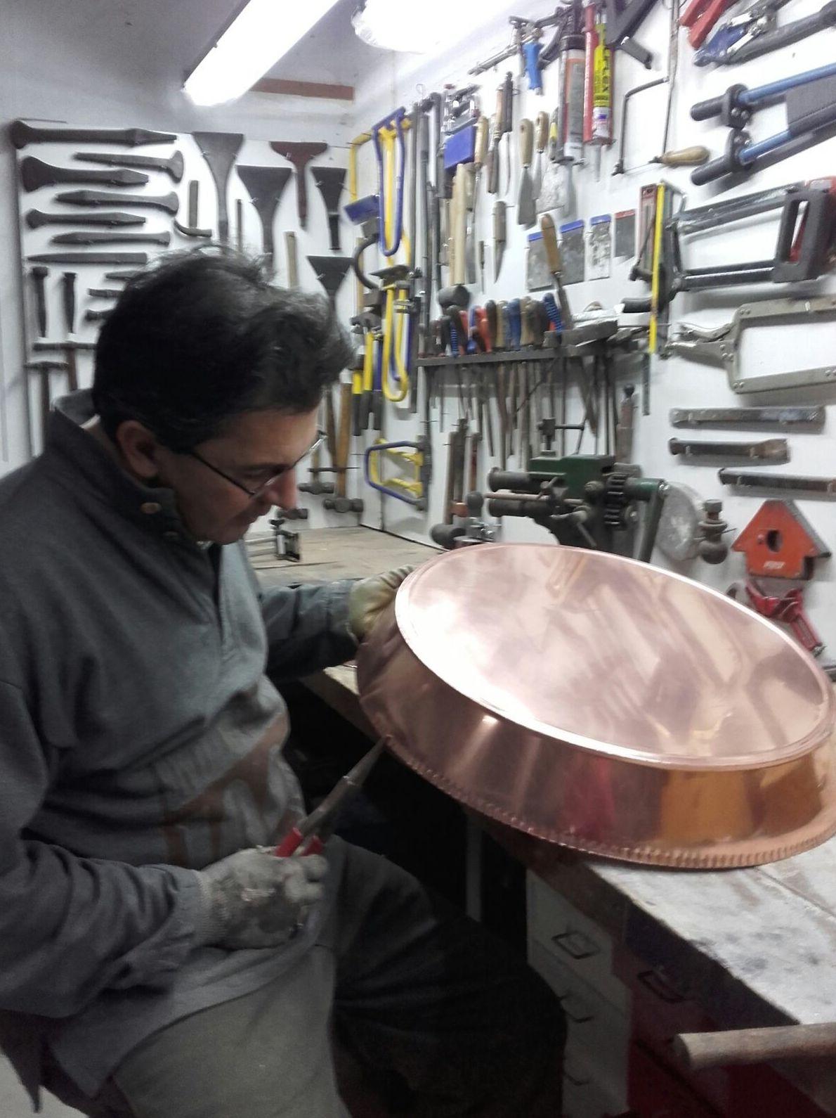 Piezas de cobre a medida para chimenea
