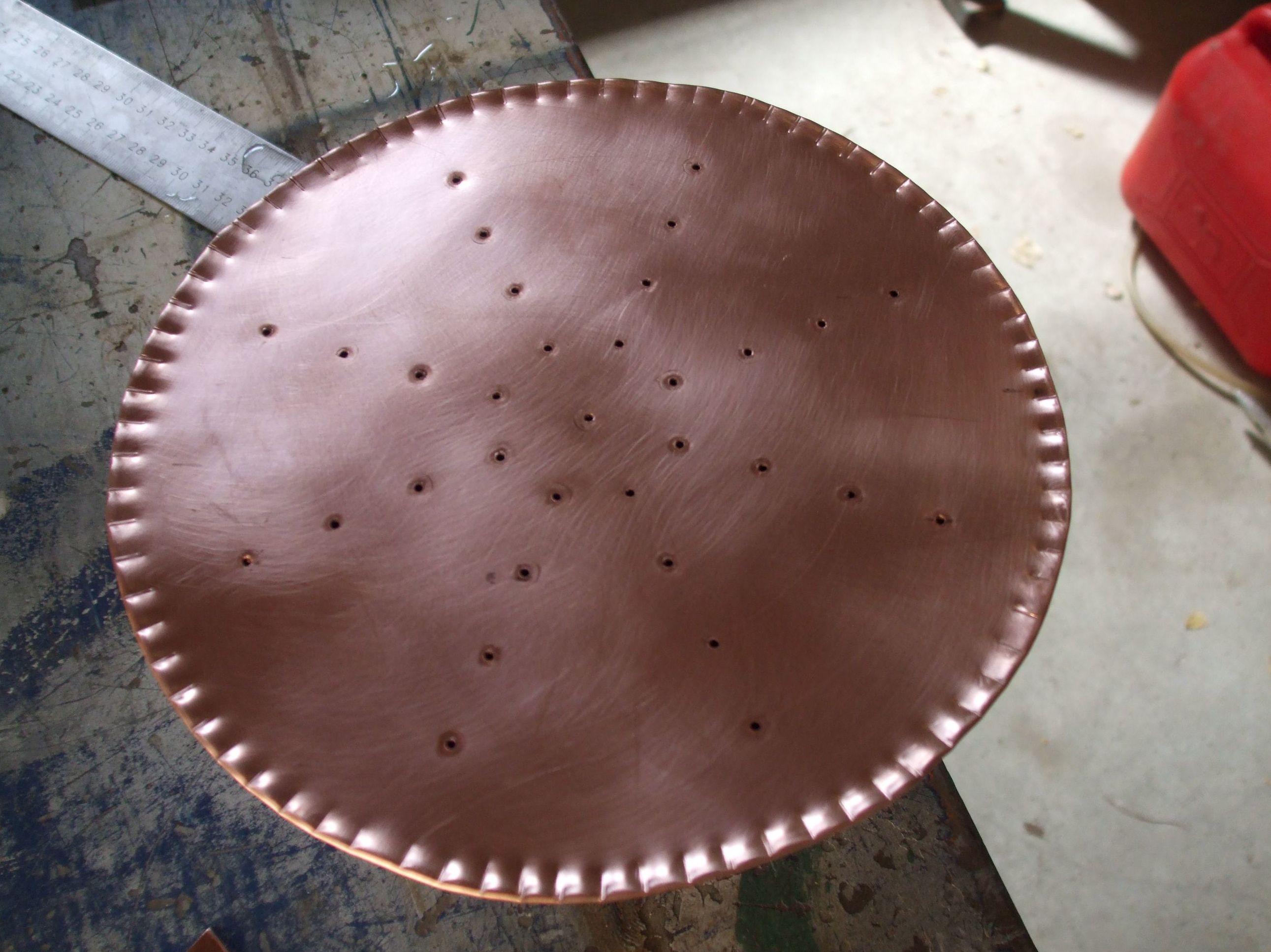 ducha de jardin en cobre