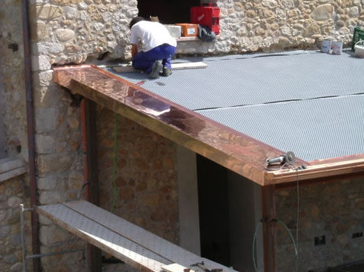 cubierta de cobre en Orfes