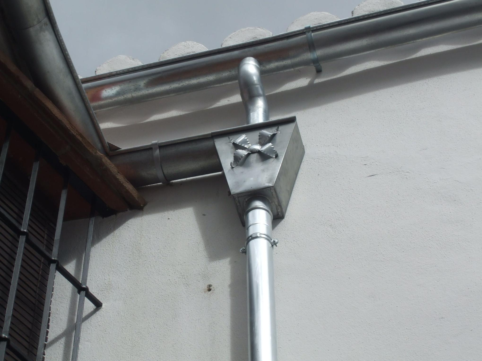 Instalación en zinc