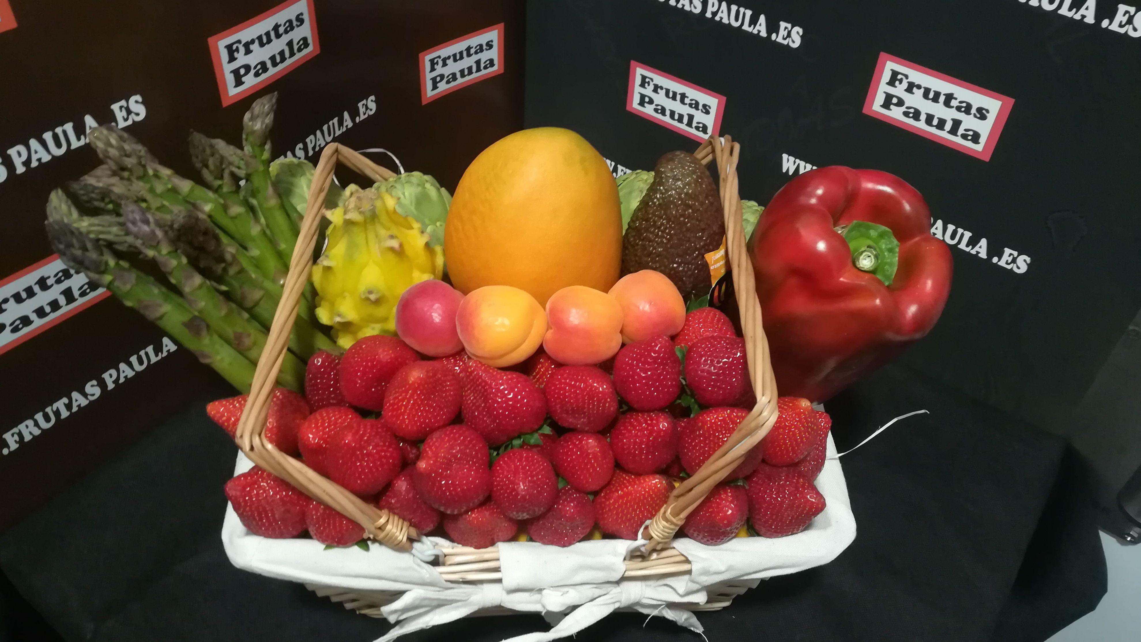 verduras y frutas    CESTA DE FRUTAS PAULA