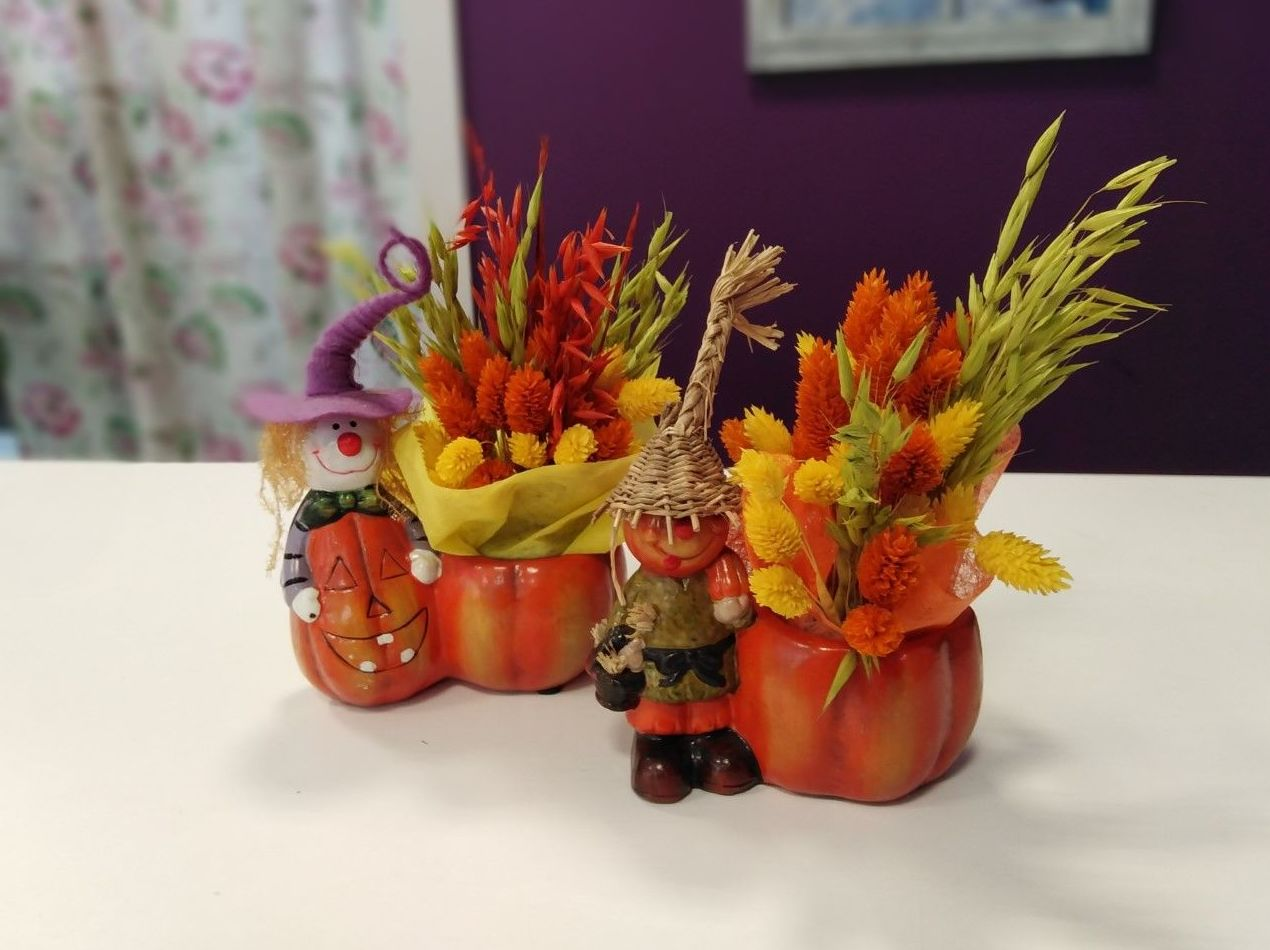 Figuritas de Hallowen: Nuestras flores de Bouquet Flores y Plantas