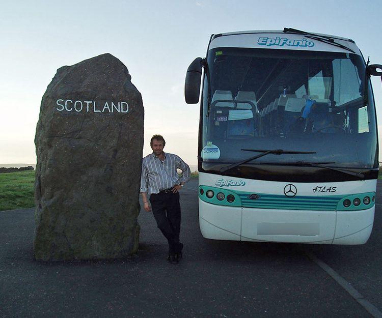 Autocar en Escocia