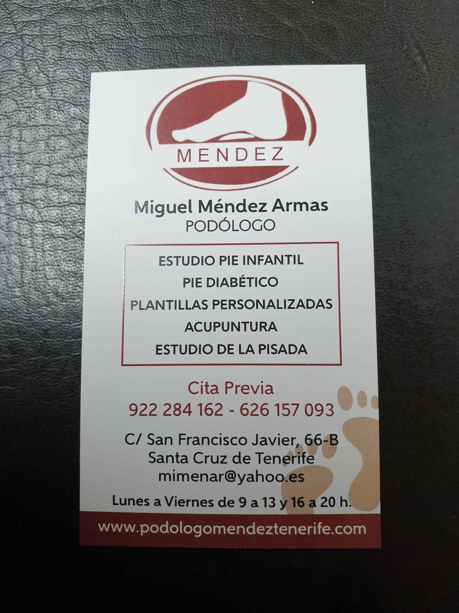Foto 1 de Podólogos en Santa Cruz de Tenerife | Miguel Méndez Armas