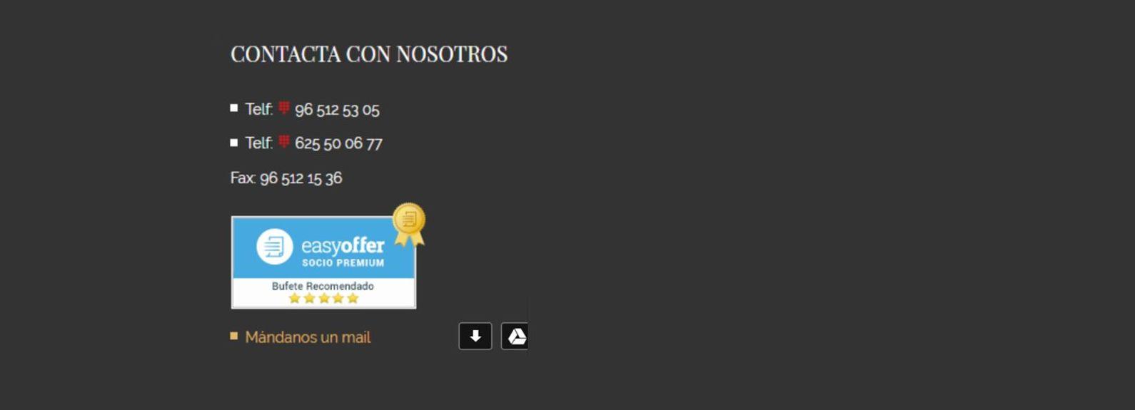 Insignia Socio Premium EasyOfler: Servicios de Iván Martínez López Abogado - Gabinete Jurídico