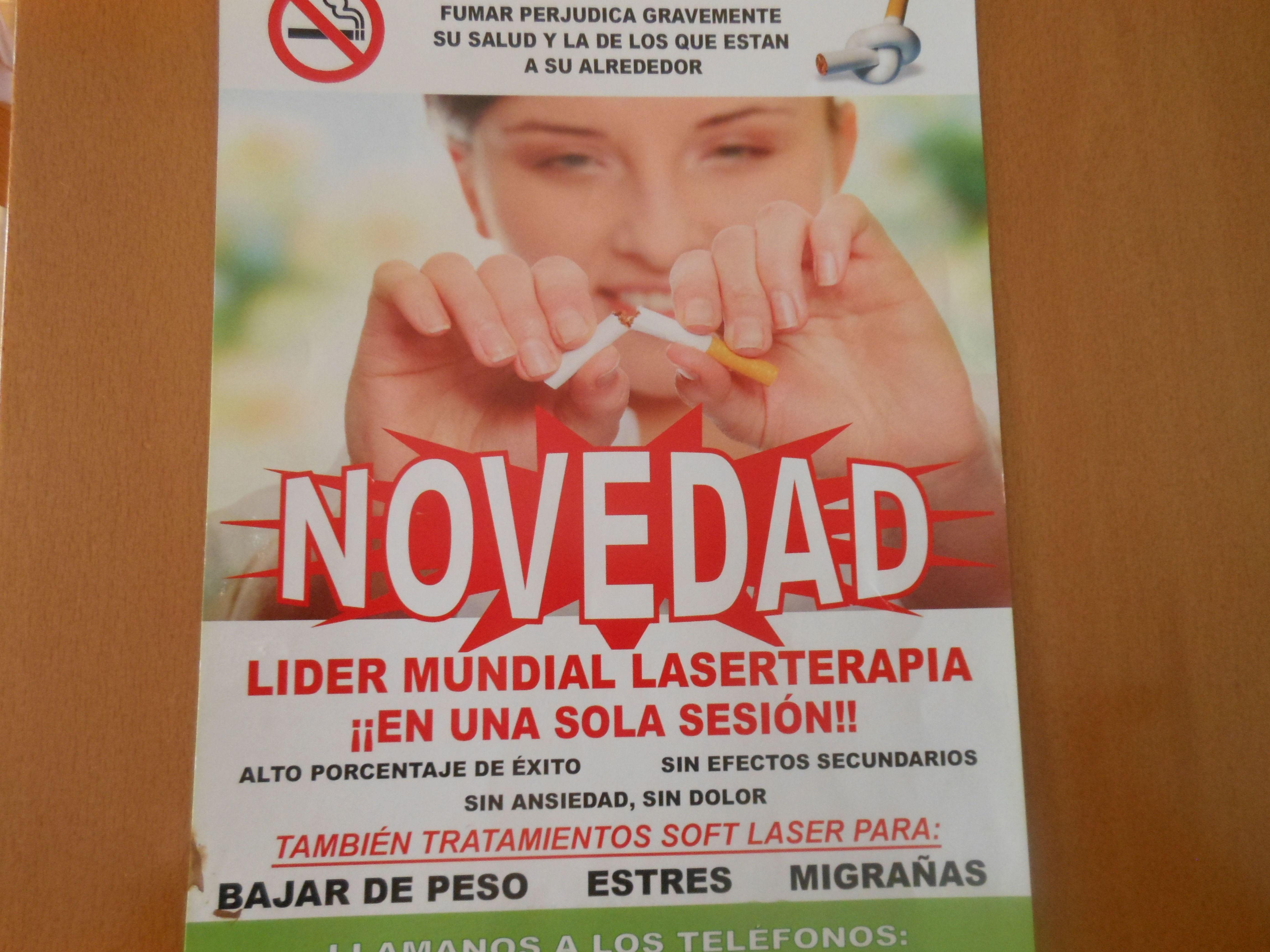 Único centro en Coslada con terapias láser para dejar de fumar