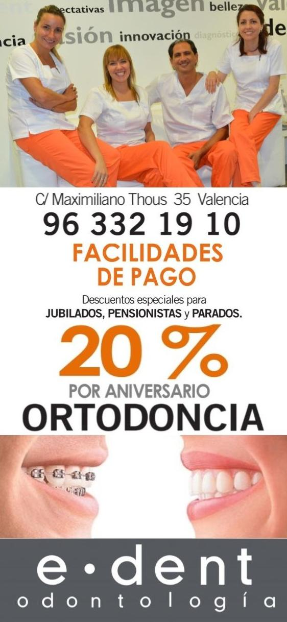 OFERTA ORTODONCIA VALENCIA www.edentodontologia.com