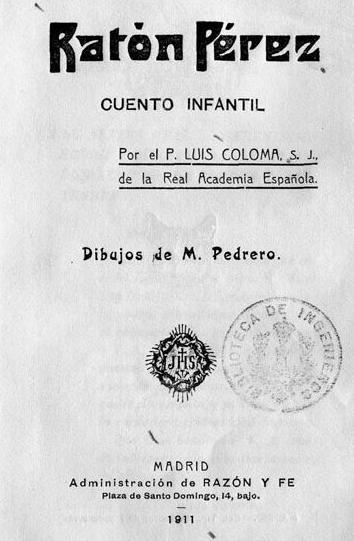 Portada original del cuento del \u0022Ratoncito Pérez\u0022