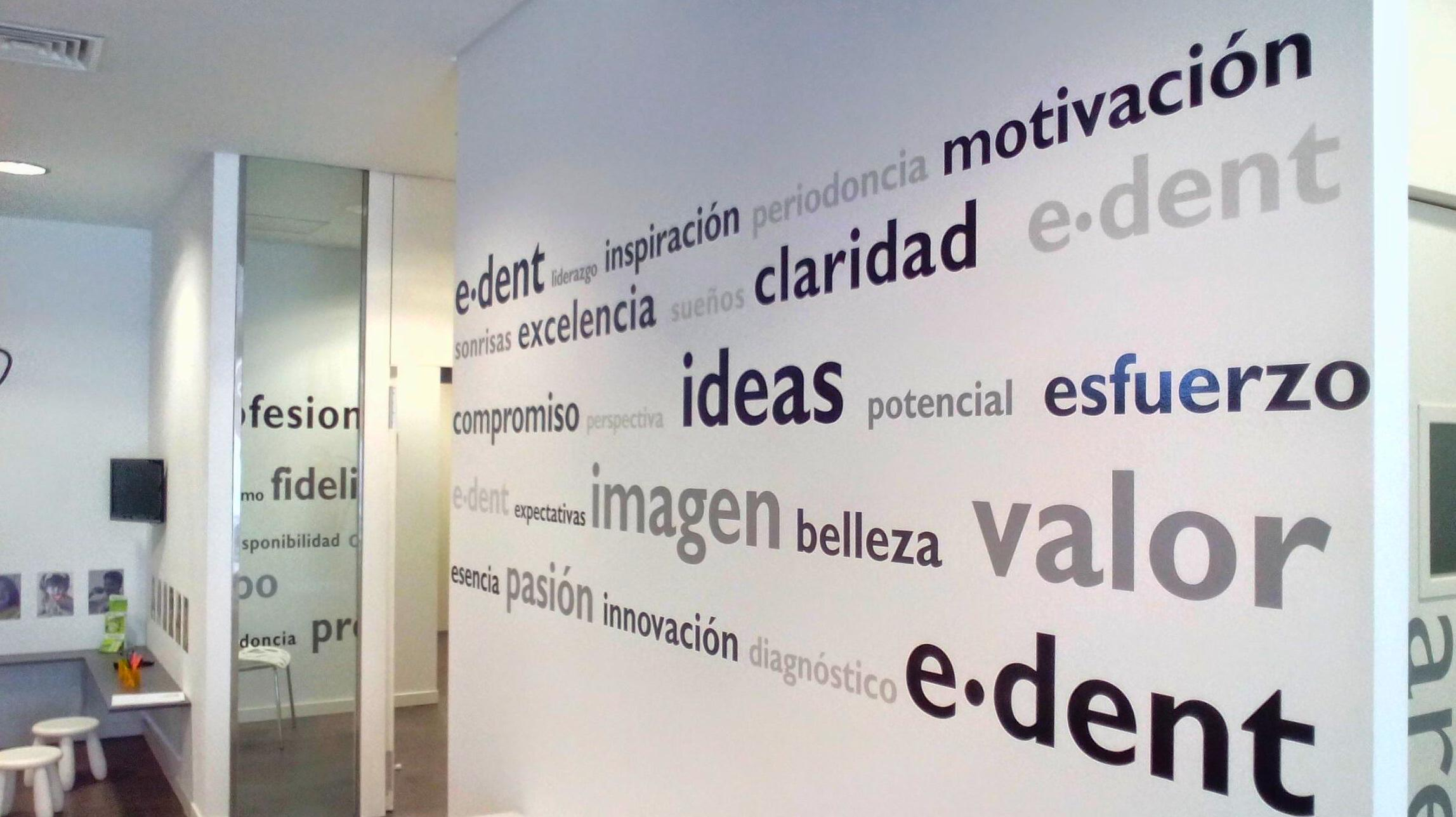 Inspiración, motivación, ideas, esfuerzo, imagen, pasión, valor ..... e.dent