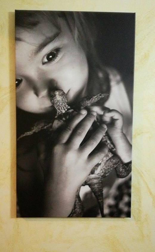 Cuadro con foto de niños/as