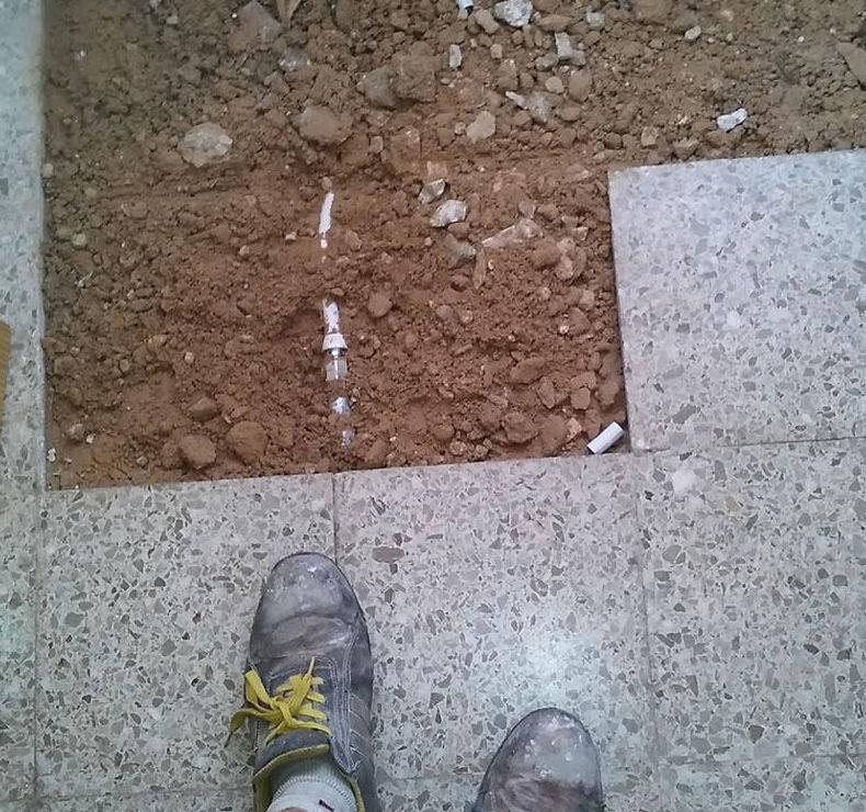 Colocación de piezas de pavimento