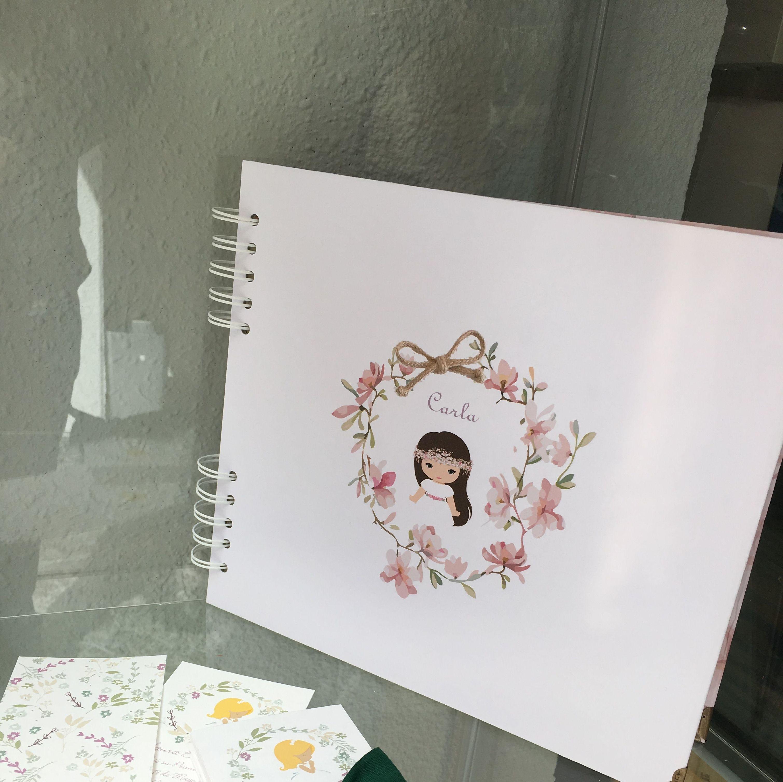 Ejemplo de  Recordatorios y Álbum Fotográfico de Comunión
