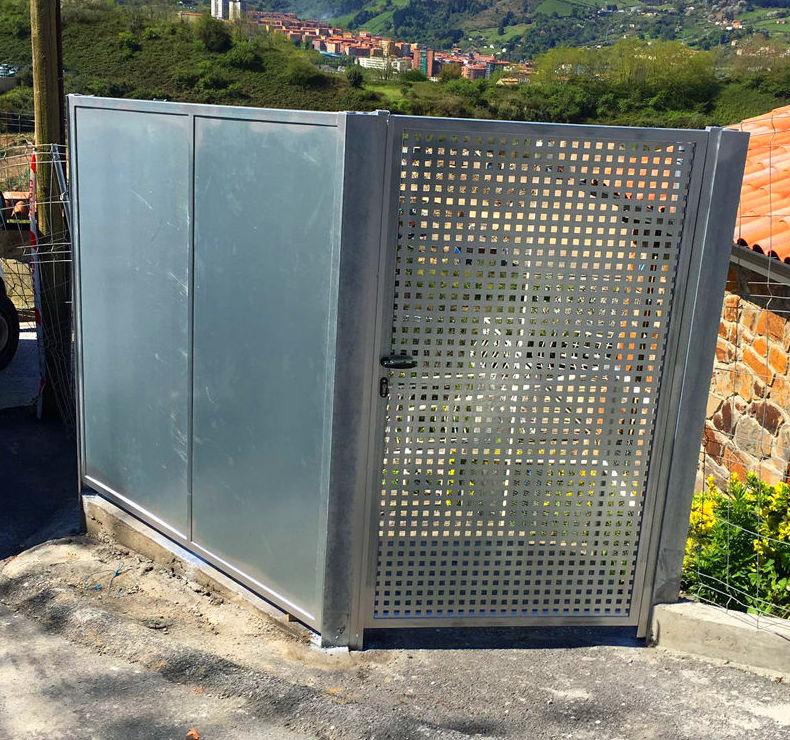 Puerta de entrada acero galvanizado