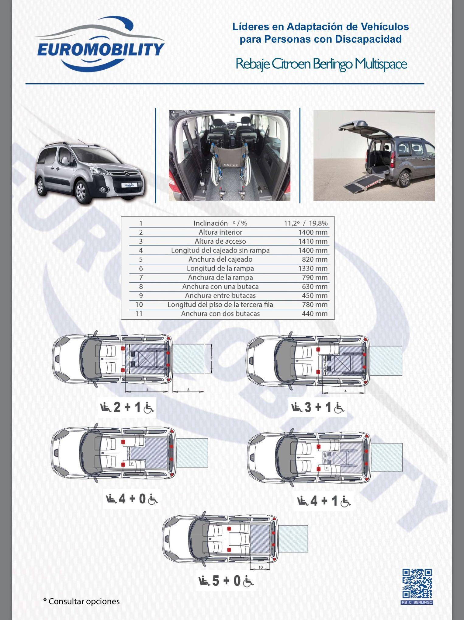 Rebaje de piso / Cajeado Citroen Berlingo Multispace. Adaptación de vehiculos Asturias