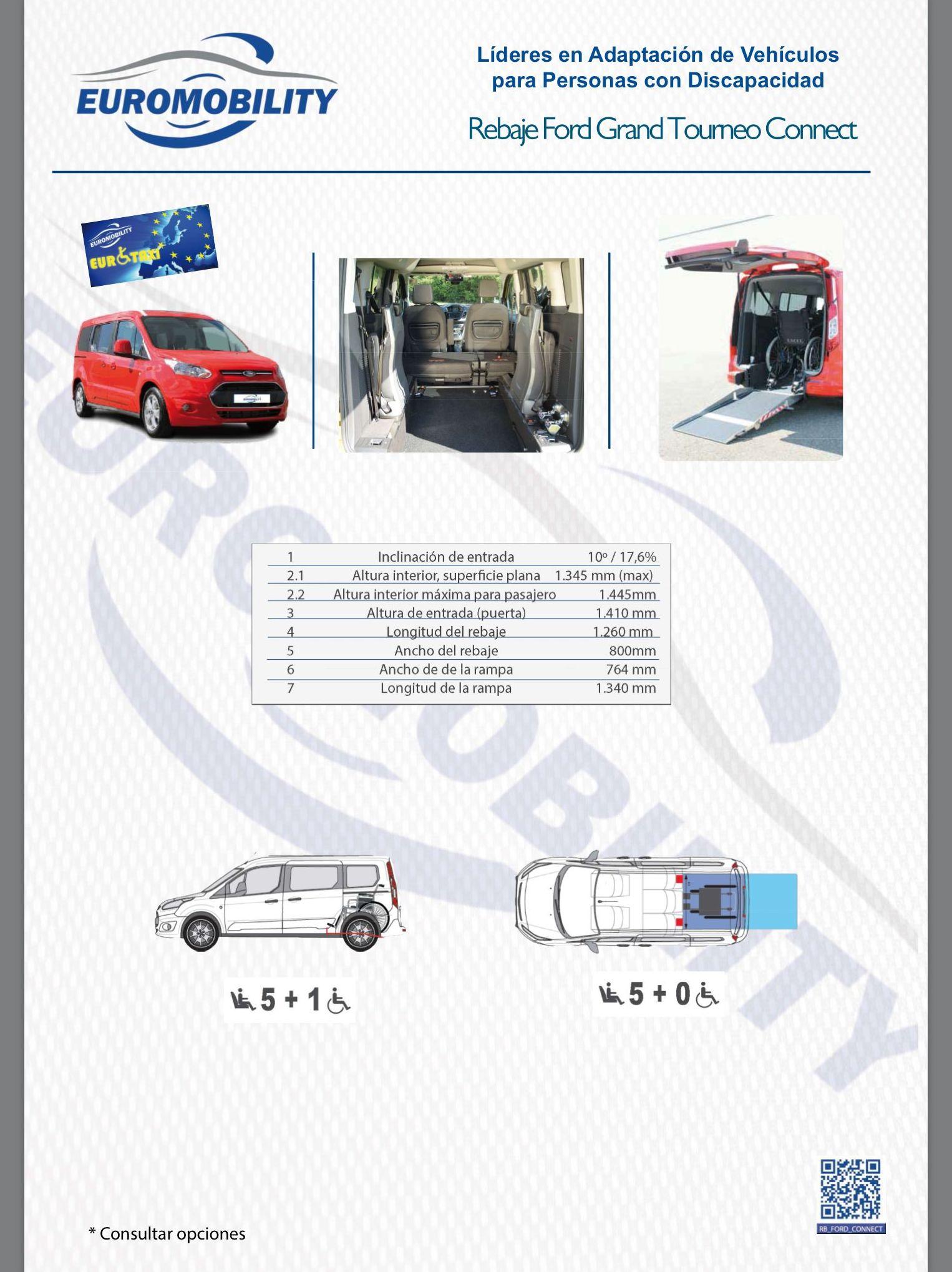 Rebaje de piso Cajeado en Ford Grand Tourneo Connect. Adaptación de vehículos Oviedo