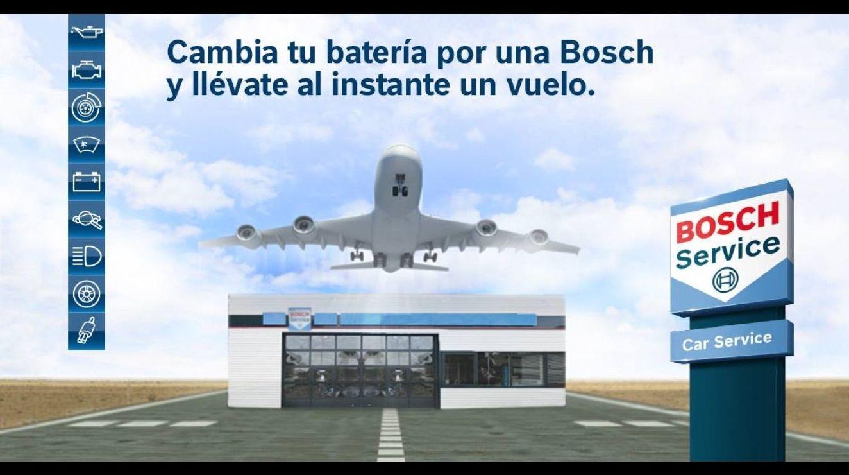 Llévate 2 billetes de avión cambiando tu batería en Cabal Automoción Bosh Car Service