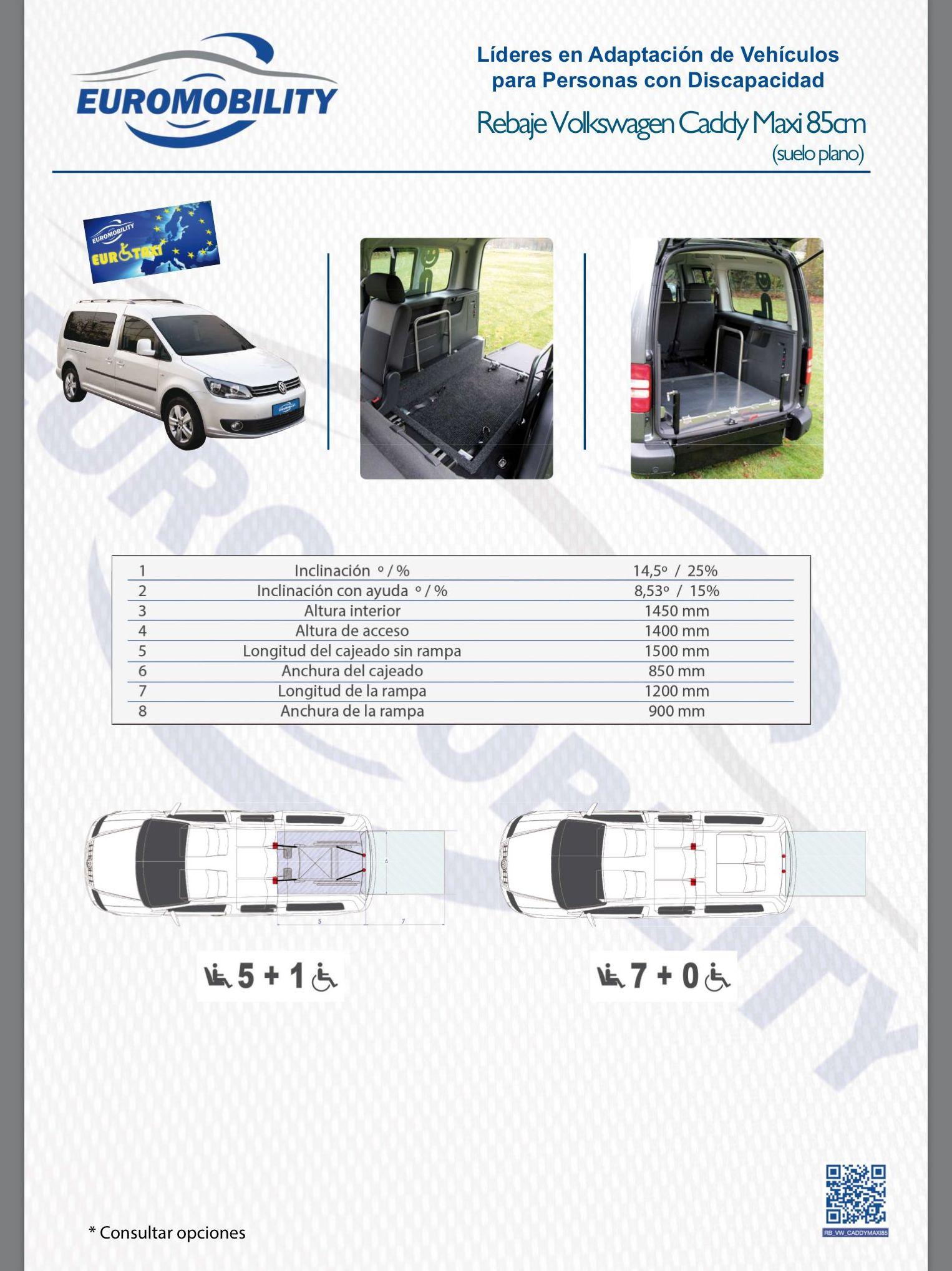 Rebaje de piso / cajeado Volkswagen Caddy Maxi. Adaptación de vehiculos Asturias