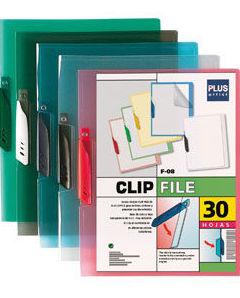 Clip file de plástico con diversos colores