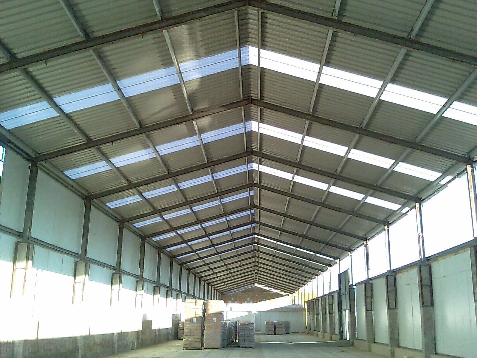 Fachadas de naves good techos modulares fachada chapa - Techos modulares ...