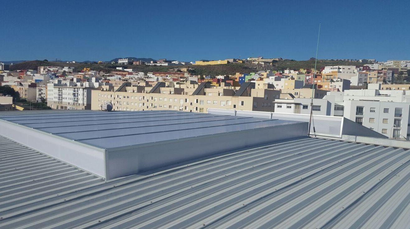Tejados de aluminio Tenerife