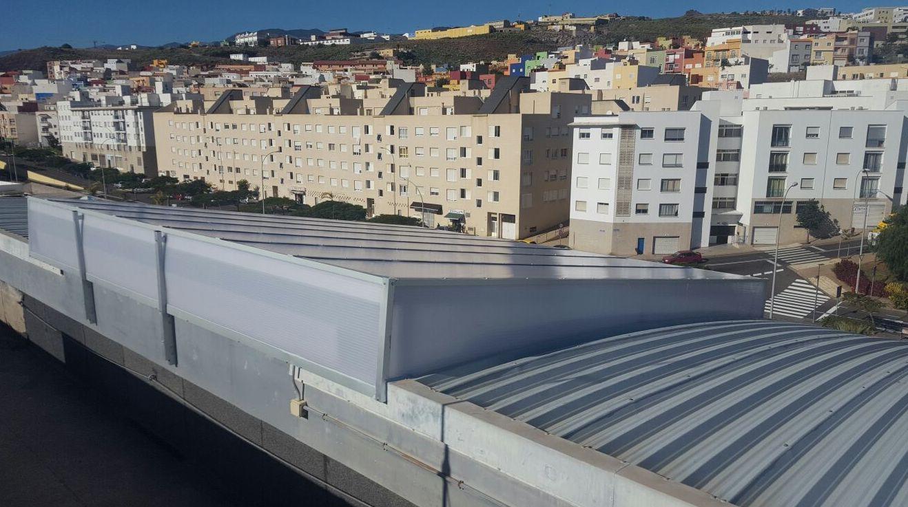 Techos de naves en aluminio Tenerife