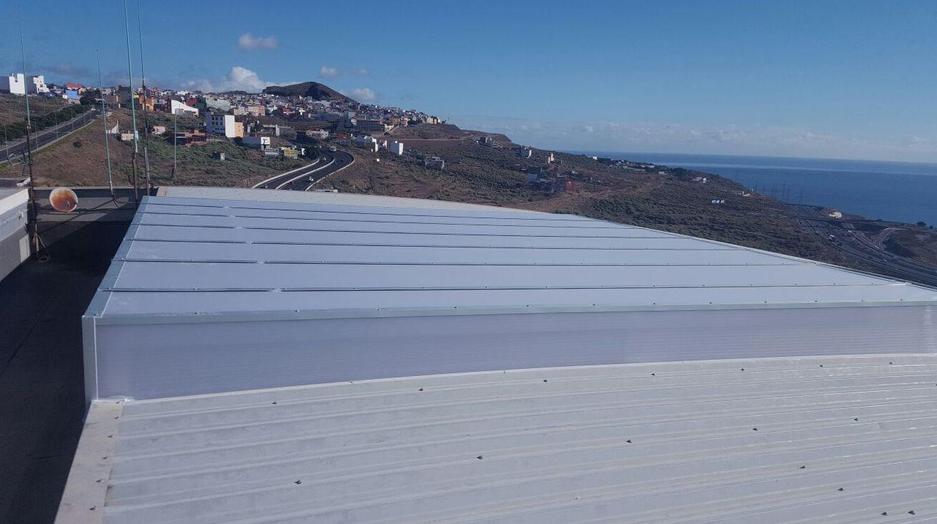 Instalación de techos de aluminio Tenerife