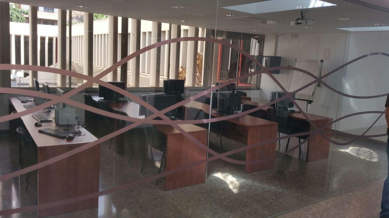 Separación de oficinas en cristal Tenerife