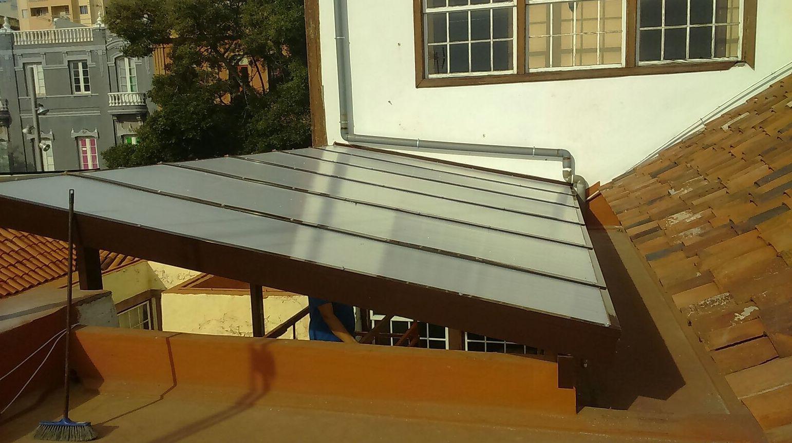 tejados de aluminio y cristal