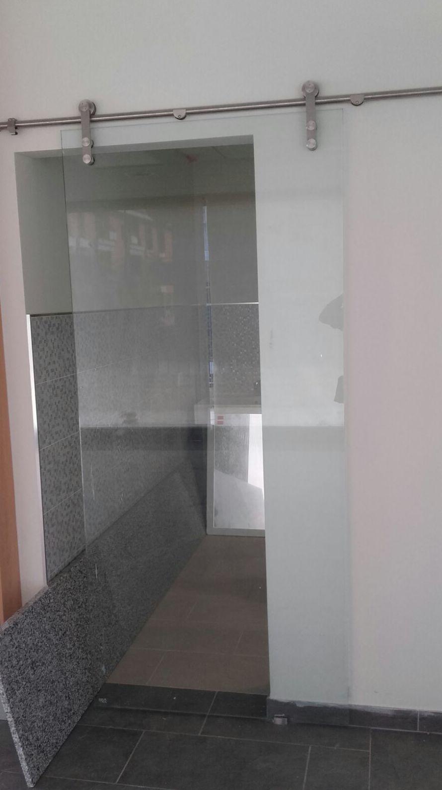 Puerta de cristal corredera