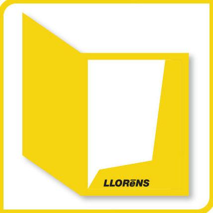 Carpetas Troqueladas con bolsillo: Productos y Servicios de Imprenta Llorens