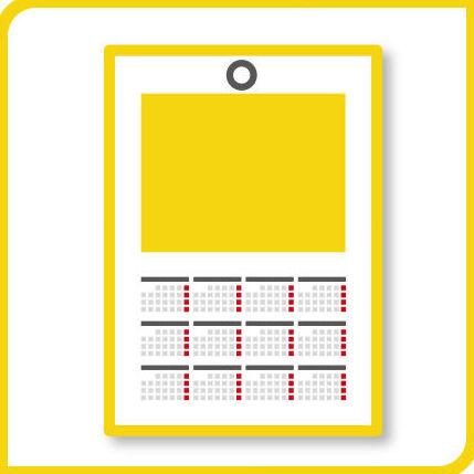 Calendario de pared sencillo: Productos y Servicios de Imprenta Llorens
