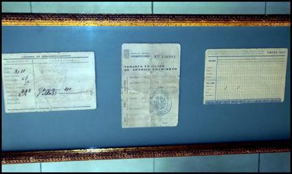 LOTE DE CARTILLAS DE RACIONAMIENTO ENMARCADAS: Catálogo de Autodesguaces De Blas
