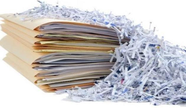 Destrucción de documentación confidencial.