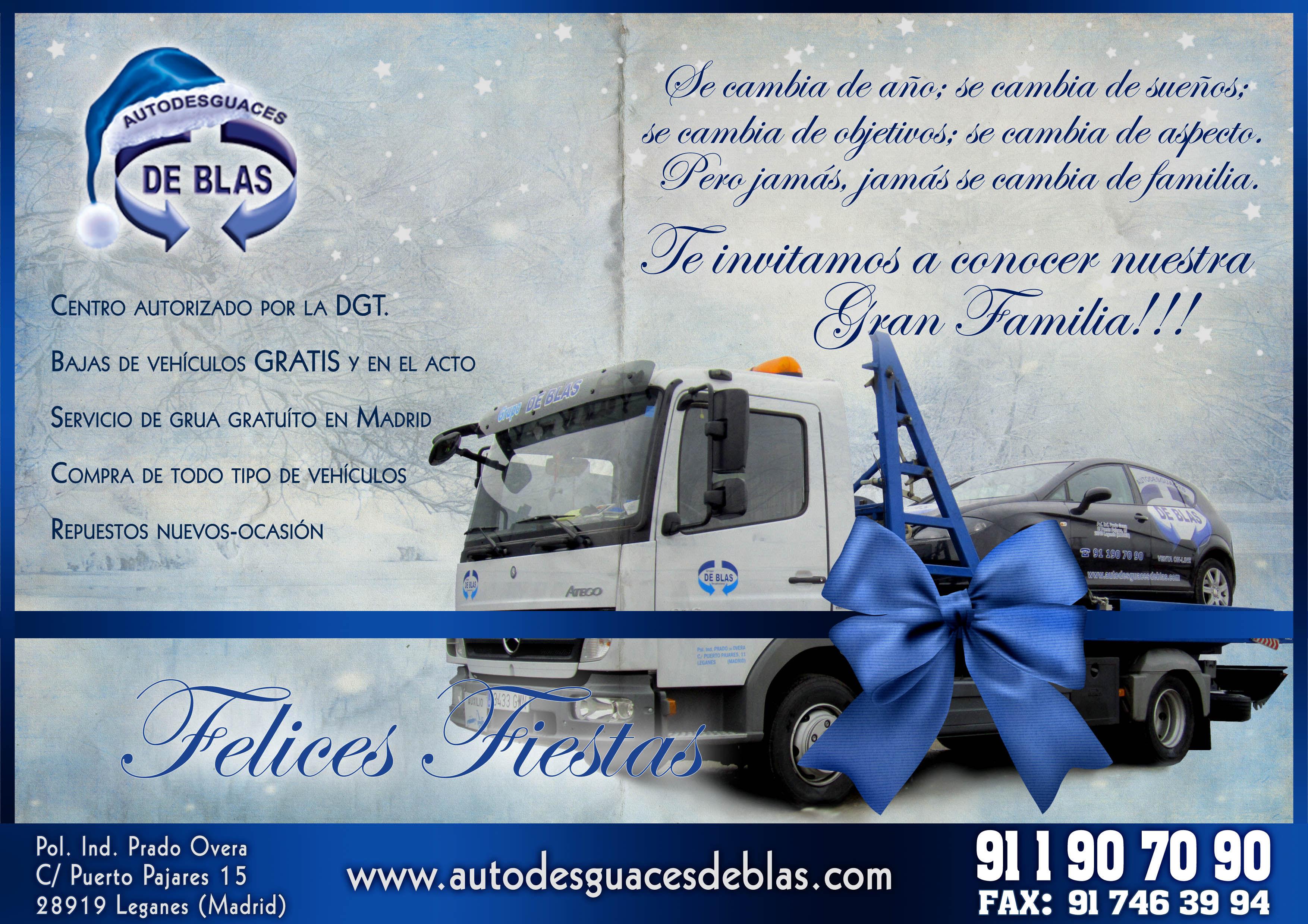 FELICES FIESTAS Y PROSPERO AÑO 2013!