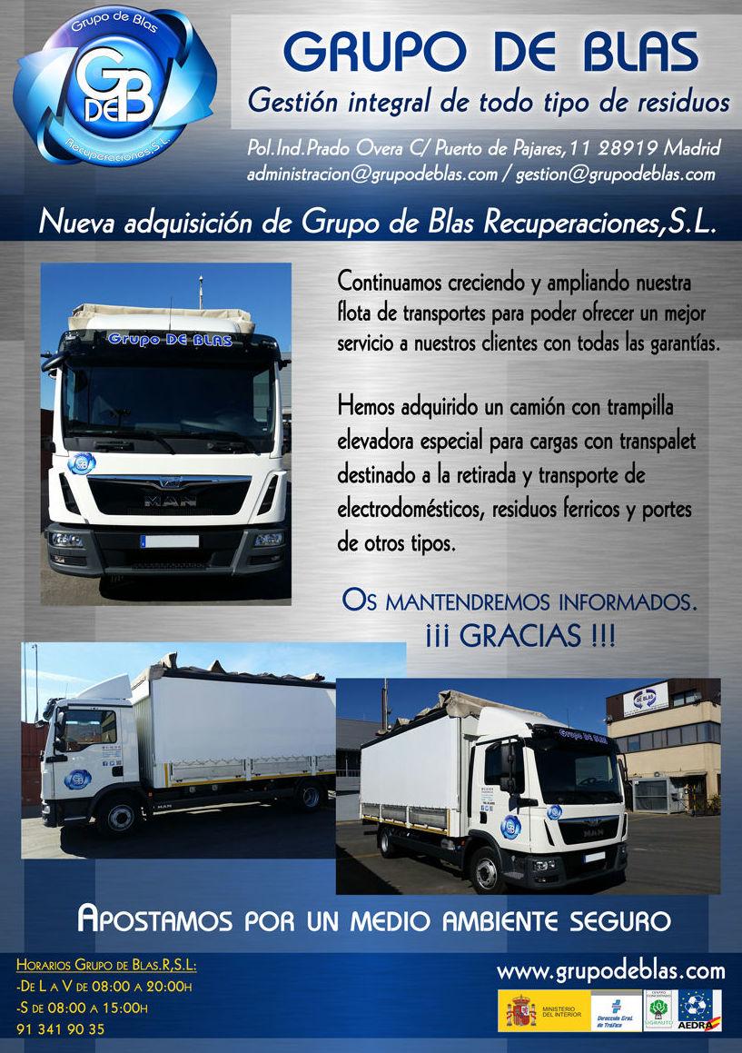 Nueva adquisición de Grupo de Blas Recuperaciones,S.L.