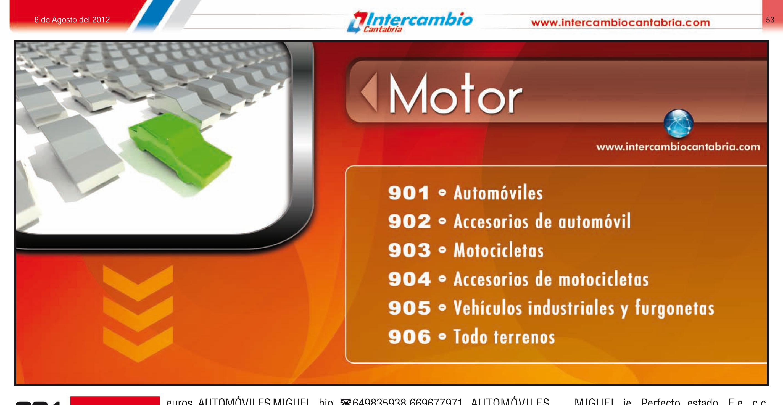 Sección Motor: Vehículos - Motos - Quad - Todo Terrenos - Accesorios