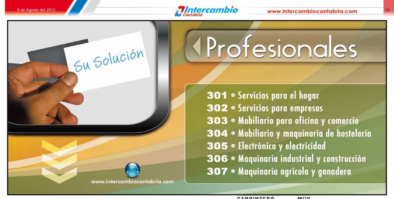 Sección de Profesionales y maquinaria