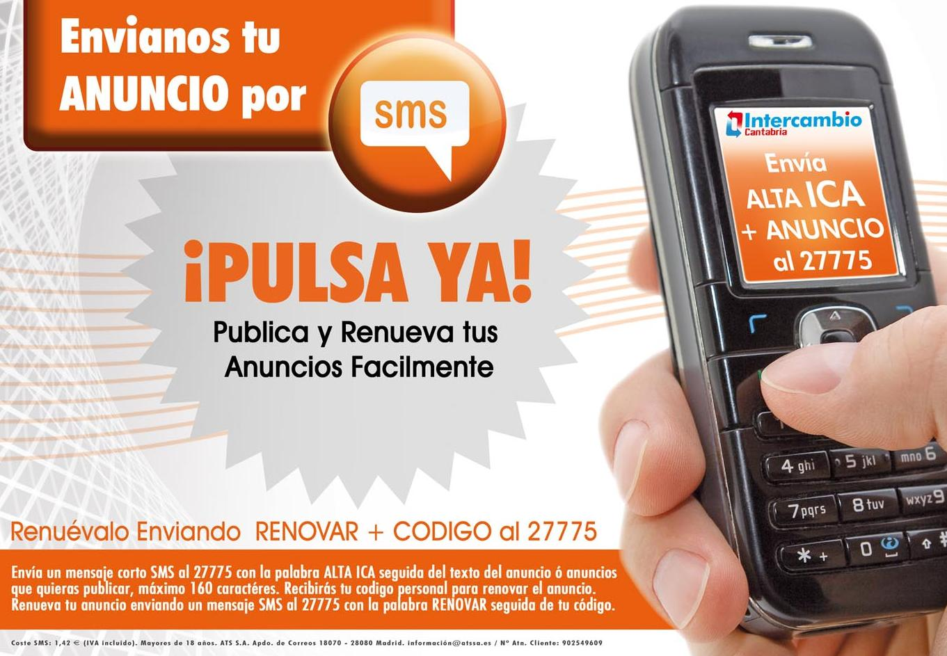 Publica tu anuncio GRATIS por SMS