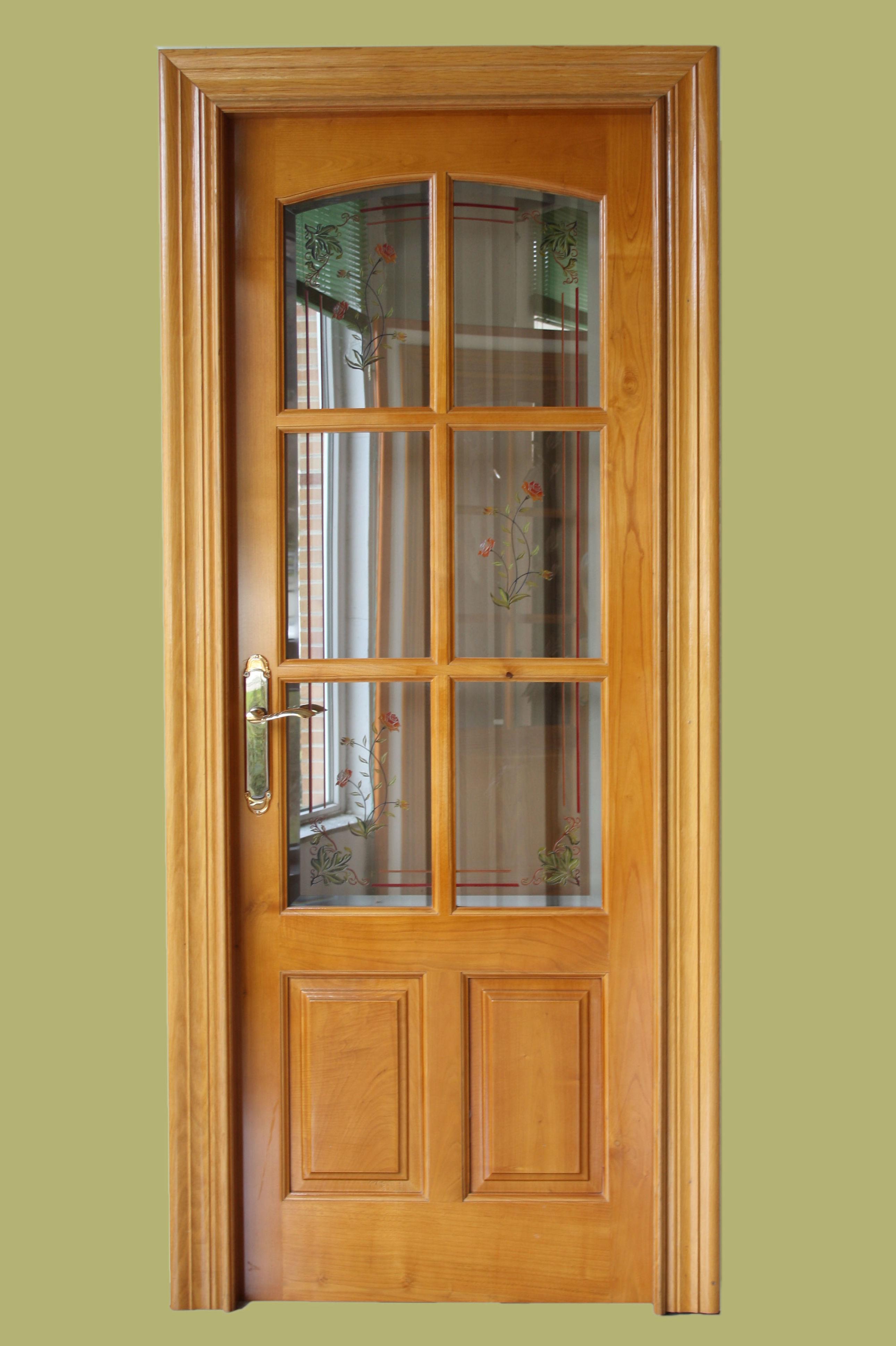 Mod maciza 6 vidrios casta o cat logo de puertas y armarios videco - Puertas de castano ...