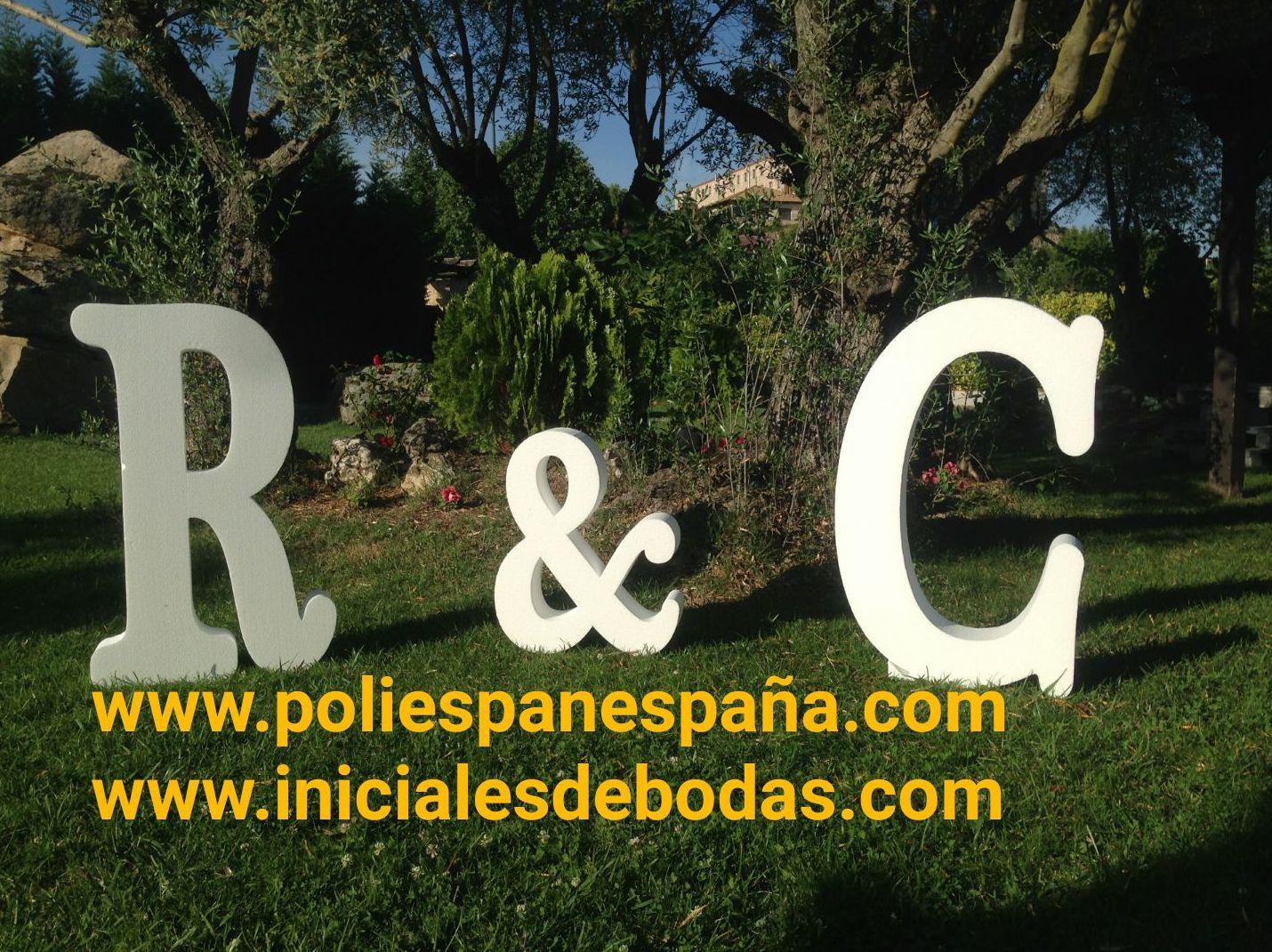 Letras gigantes para eventos en Toledo