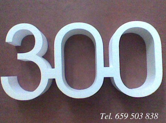 Fabricación de letras y números