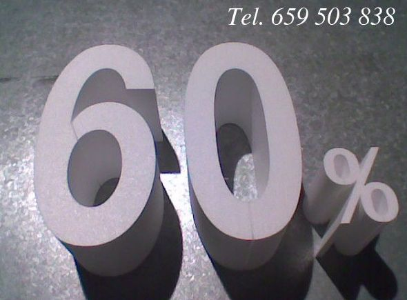 Embadiseños, letras y números para rótulos