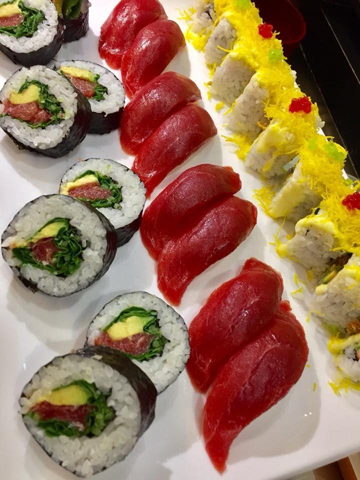 Rucula maki, maguro sushi, california maki en Las Palmas de Gran Canaria