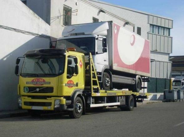 Góndola para transporte de camiones y autobuses: Grúas  de Grúas Marcos