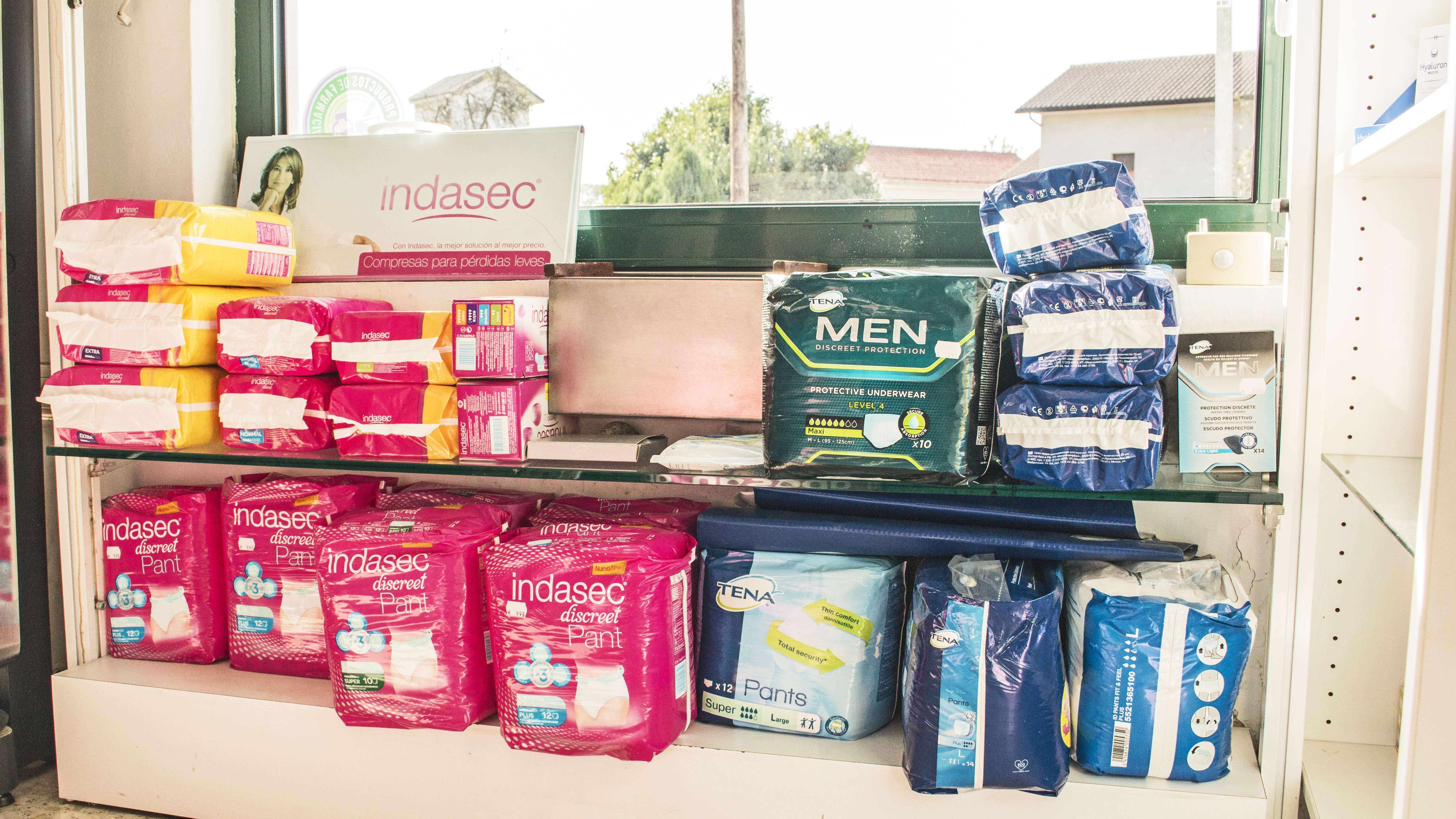 Artículos sanitarios para la incontinencia urinaria en Narón