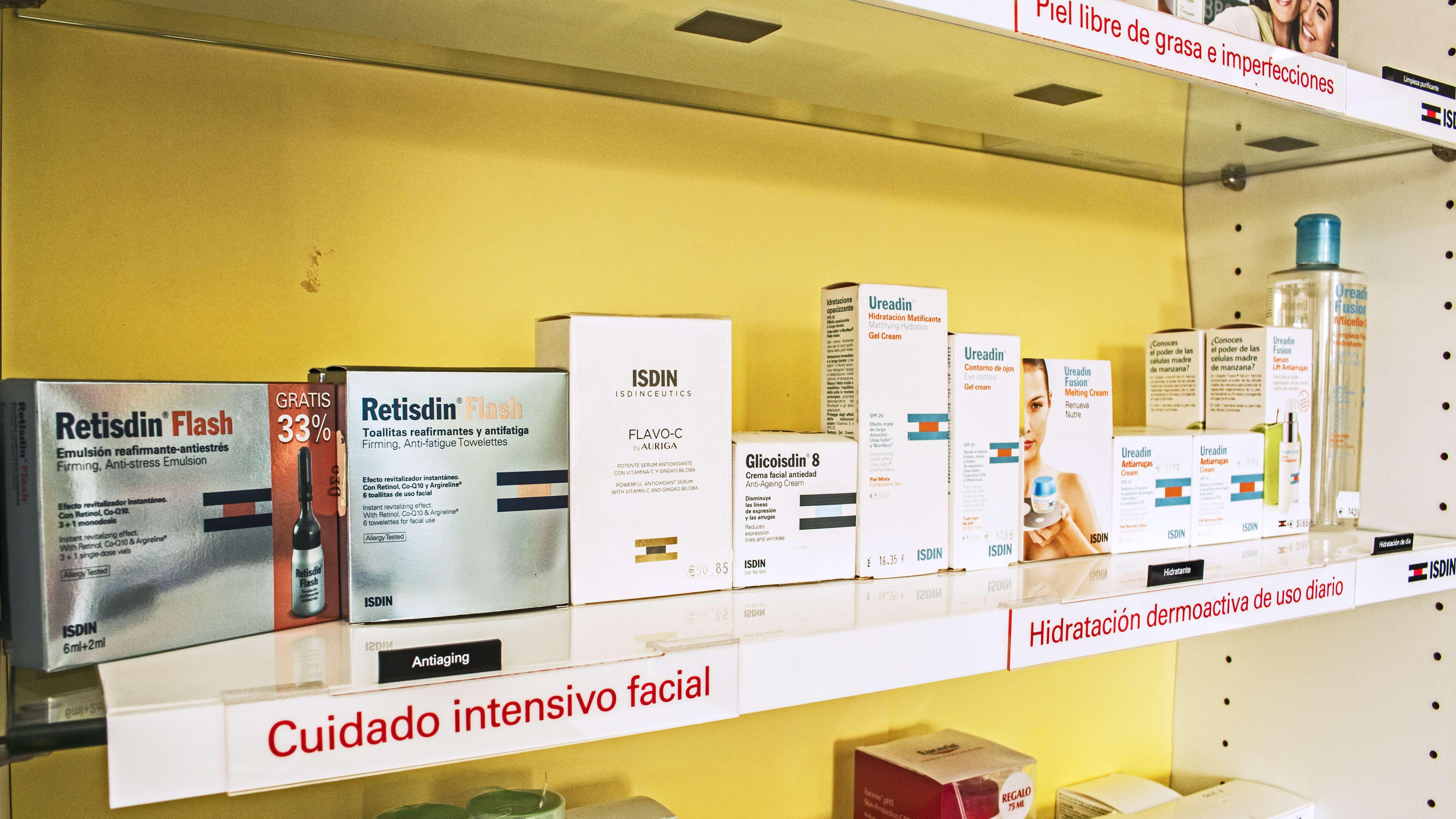 Productos faciales y corporales en nuestra farmacia de Narón